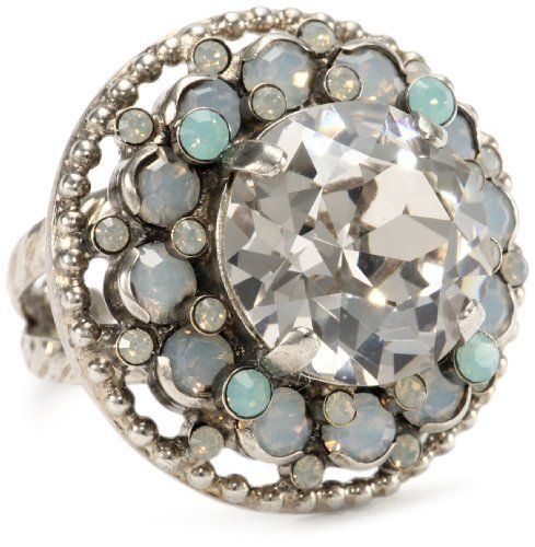 """Sorrelli """"Aegean Sea"""" Pacific and Light Grey Opal on Braided Adjustable Ring Sorrelli. $47.50. Antique silver finish. Made in China. Items that are handmade may vary in size, shape and color. Handmade rings may range a 1/2 size up or down"""