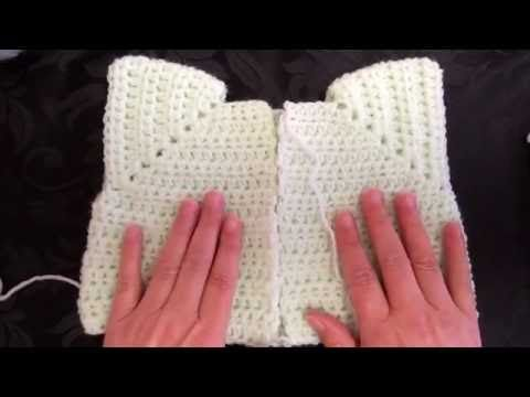 Part 2 Crochet along My Easy Newborn cardigan button holes 09/08/2016 - YouTube