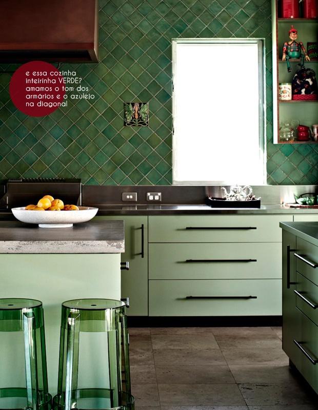 cozinha verde | green kitchen #decor #decoracao #cozinha