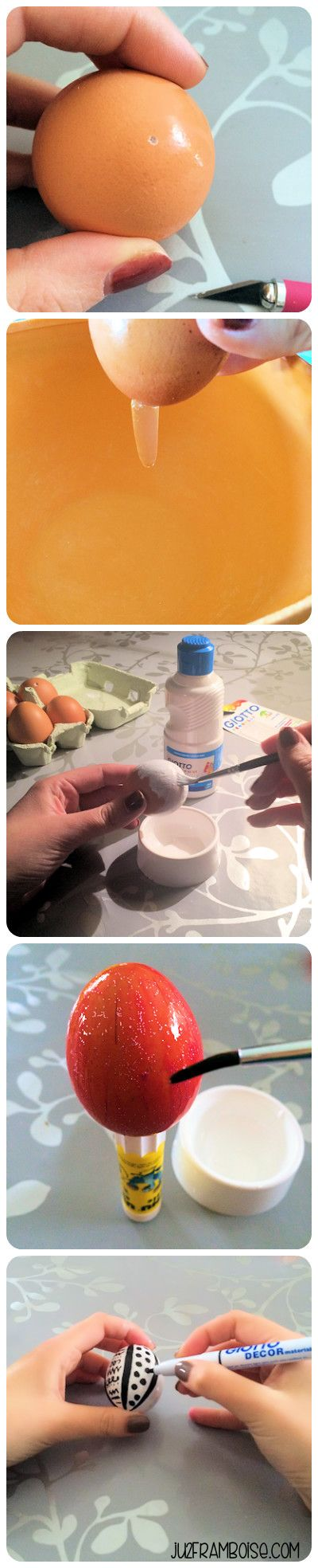 DIY : un tuto facile pour peindre sur les oeufs, déco de Pâques | Ju2Framboise.com