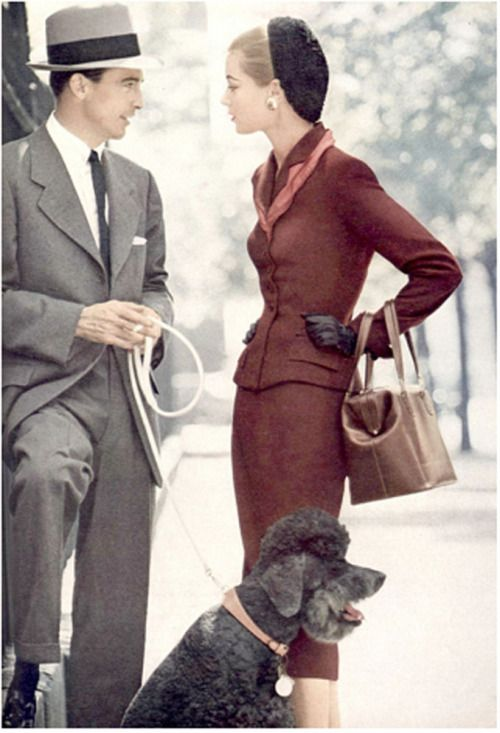 Vogue 1952. I thought it was Don Drapper from Mad Men! Love!