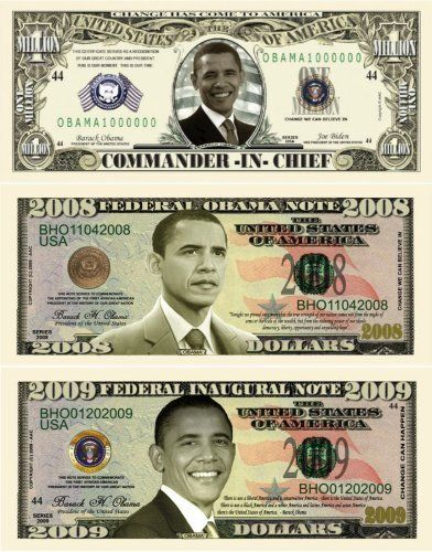 Barack Obama 44th President Triple Collectors Bill…