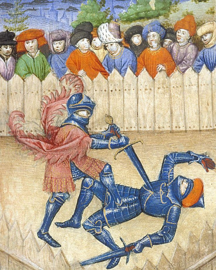 Knights in combat, c.1450. The British Library, Public Domain