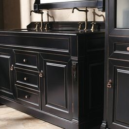 bathroom+remodel+double+sink | Bathroom Vanities and Sink Consoles side panel curtains Design Ideas ...