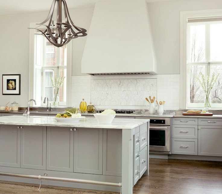 Gray kitchen cabinets transitional kitchen porters for Kitchen cabinets phoenix
