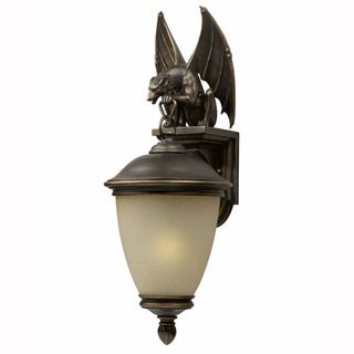 gargoyle 1light oilrubbed bronze outdoor wall light fixture by triarch