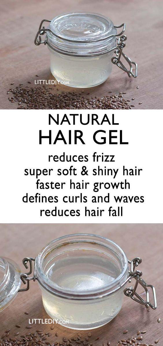 DIY NATURAL HAIR GEL for hair growth and hair shine