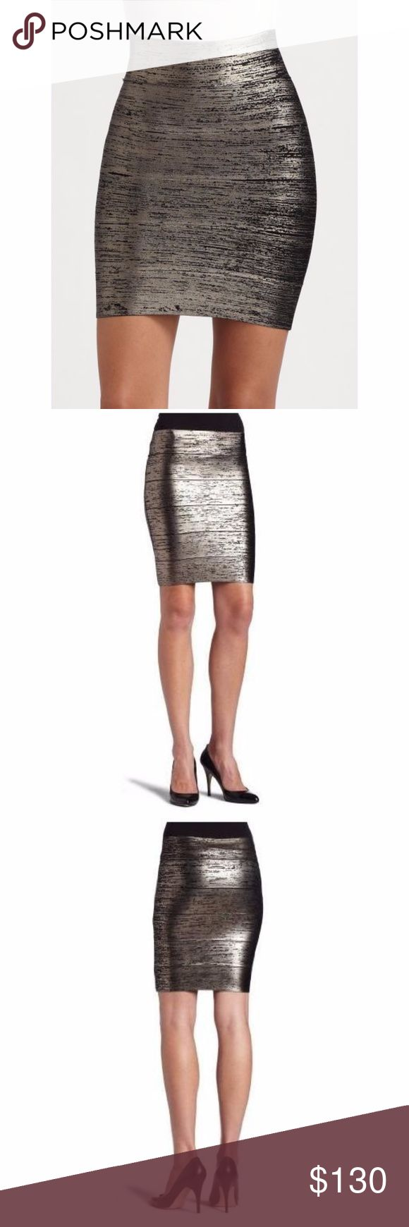 BCBG Foil Metallic Mini Skirt Worn twice - very cute and sexy -  ****price lowered to match market rate**** BCBGMaxAzria Skirts Mini