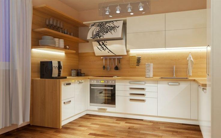 cocina moderna con laminado de madera