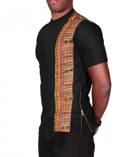 Dashiki Stripe King T-Shirt