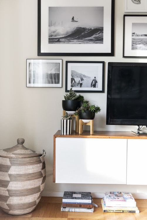 """Rental Apartment Living Room Decorating Ideas: A Boho Beach Apartment Has A Different Kind Of """"Board Room"""
