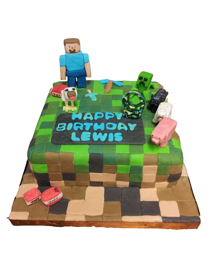 'Minecraft' computer game Birthday Cake