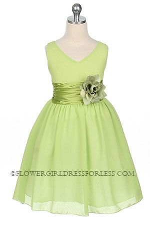 flower girl dress...the BMs are in eggplant, our other color is lime, like this!  It would be cute to have her in Ivory like me, but with this dress, I might cave to color!