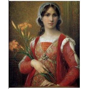 Elisabeth Sonrel - Presumed portrait of Beatrice Portinari