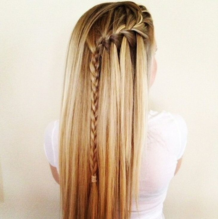 side waterfall braid ♡