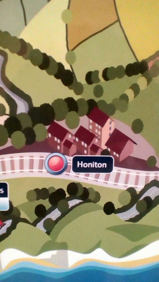 SWT map at Salisbury Station showing Honiton