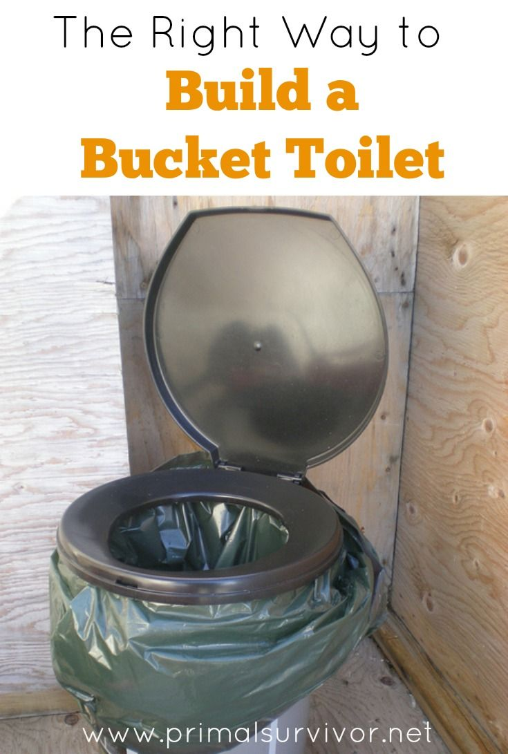 The Right Way to Make a Bucket Toilet. If disaster strikes and you don't have an emergency toilet, then it will really be a SHTF situation!  I'd go as far as saying that having an emergency toilet is just as important as having a stockpile of emergency water and food.  For most homes, the best option is a 5 gallon bucket toilet.   Here's what you need to know to make a 5 gallon bucket toilet, where to find bucket toilet seats, and a simple design upgrade which will dramatically improve your…