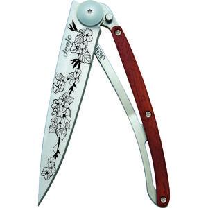 Deejo -  Rosewood Cherry Blossom Tattoo 37g Knife