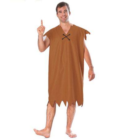 The Flintstones Barney kostuum voor heren. 1-delig Barney kostuum bekend van de Flintstones. Een lange bruine jurk met aan de mouwen en de onderkant rafels. Carnavalskleding 2015 #carnaval