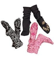 Paws! Keep the toesies warm. Now in Leopard and Dalmation