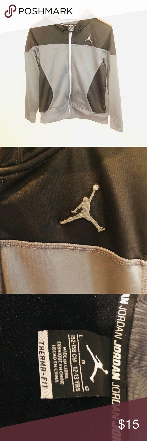 Nike Air Jordan zip up jacket size large thermafit Nike