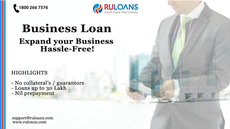 #BusinessLoan - #Ruloans Expand your Business hassle-free now! Contact Ruloans on www.ruloans.com