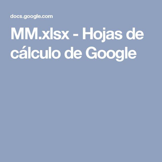 MM.xlsx - Hojas de cálculo de Google