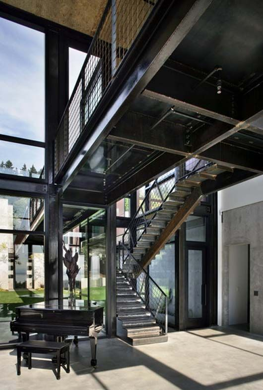17 best images about steel structure house on pinterest for House plans with exposed beams