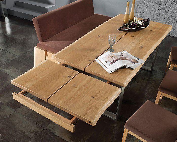 Eckbankgruppe Varese aus Kernbuche - mit Wachseffektlack - Schösswender Möbel