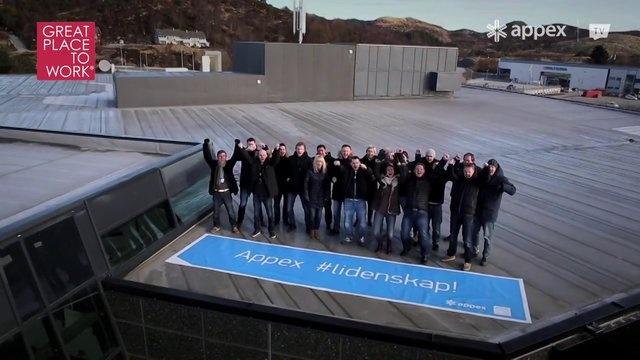 Appex lidenskap! by Appex. Appex er Norges 5. beste arbeidsplass.