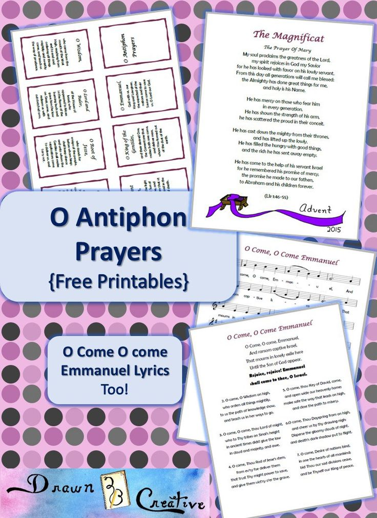 O Antiphons {Free Printables} | Advent/Christmas Ideas for ...