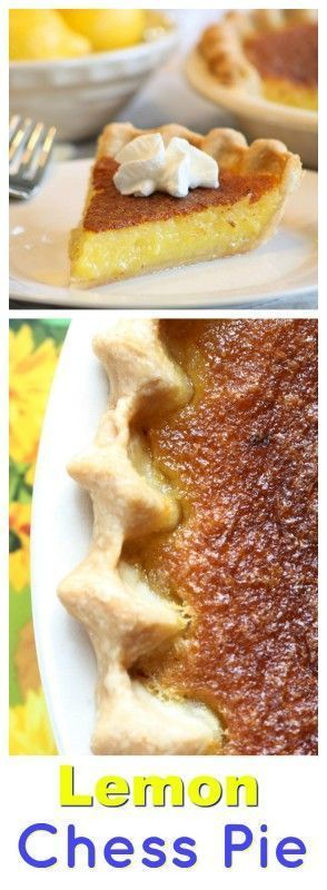 Lemon Chess Pie - a southern classic that is easy to make and a wonderfully tart and sweet treat for any occasion
