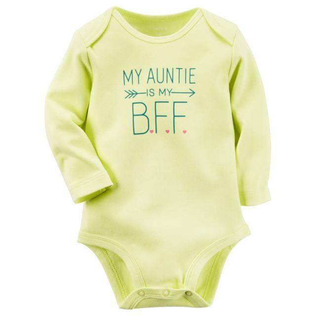 Auntie BFF Long Sleeve Onesie