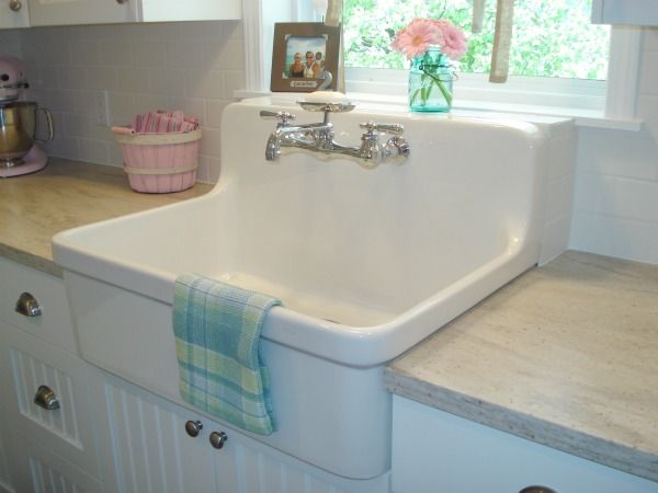 Farm house sink... a must have for the cottage kitchen. :)