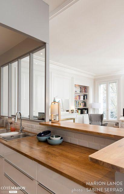 Blog wnętrzarski - design, nowoczesne projekty wnętrz: Stylowe francuskie mieszkanie w starym budownictwie 100m2
