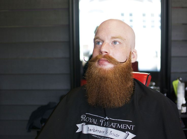 Fantastic ginger beard! A trim at the barbershop Royal Treatment in Ängelholm, Sweden. Barber: Mohammad Alasmar