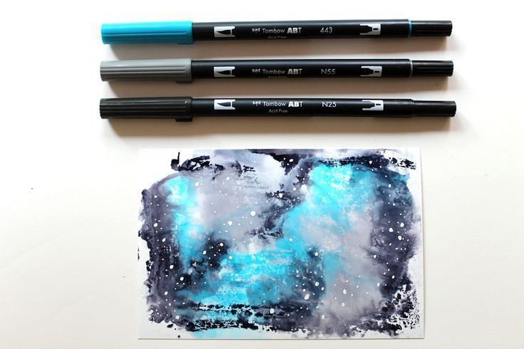 Learn 10 Galaxy Color Combinations You Can Create With Tombow Usa