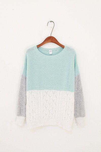 Pastel colour blocked sweater! #knit #knitting #artofknitting