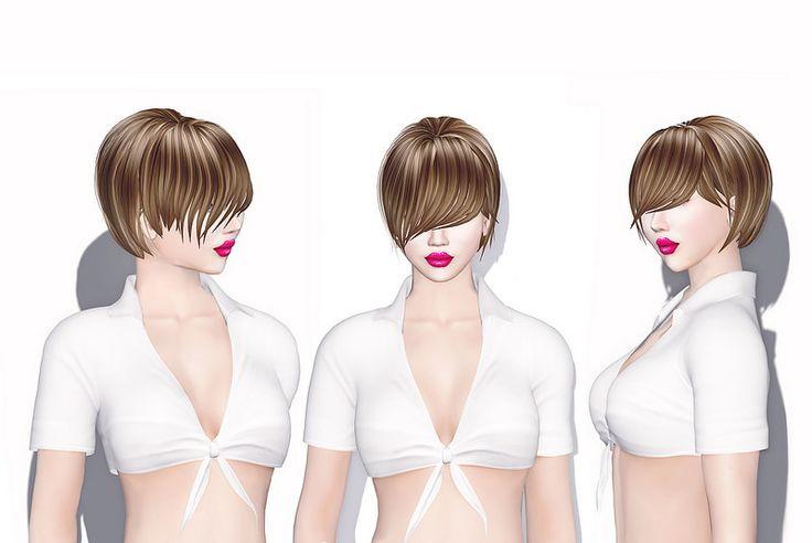 Xera Short Hair With Long Front Bangs