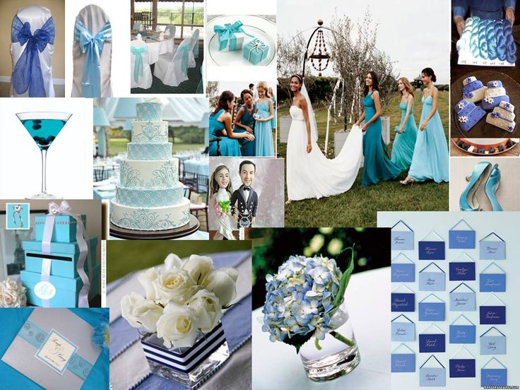 I Love The Different Color Blues! June Wedding ...