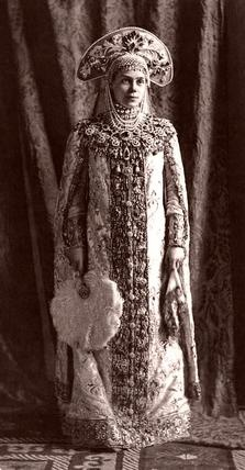 Courtly Russian costume #folk