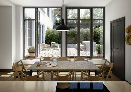 Oscar Properties : Stråhattsfabriken #oscarproperties windows, kitchen