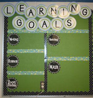 Learning Goals Bulletin Board