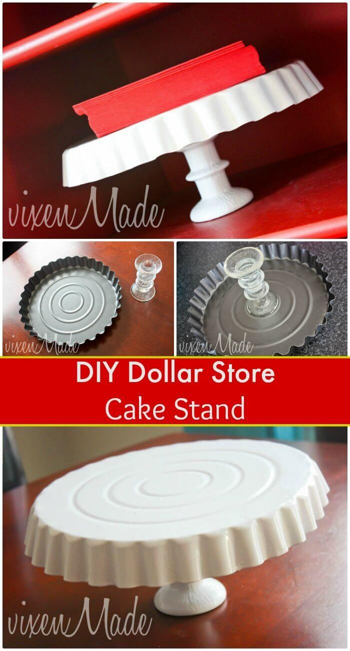 Easy DIY Dollar Store Cake Stand