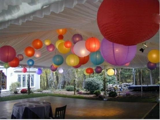 Decoración con globos chinos - Imagui