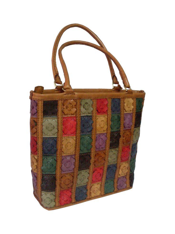 Gön Deri 20063 Flora Multi Leather Handmade Bag