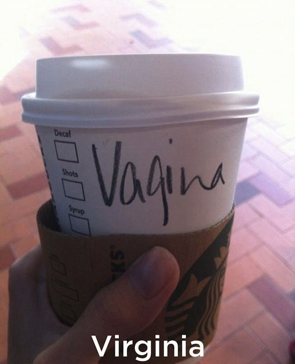 Hilarious Starbucks Name Fails