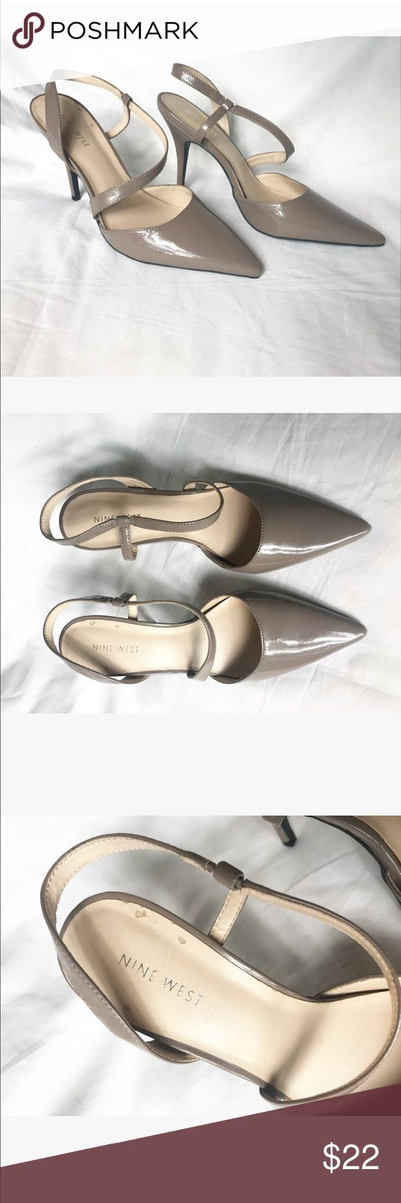 Nine West Capital Biege High Heels Size 9 Beautiful Nine West heels  Great condition only one flaw please see photo for detail Nine West Shoes Heels