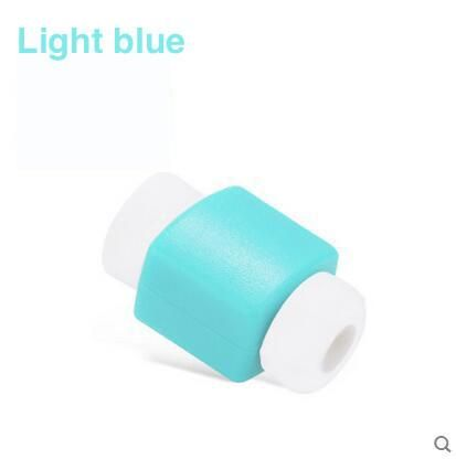 Simple Cute Cable Protector Data Line Cord Protector Protective Case Cable Winder Cover For iPhone USB Color Charging Cable