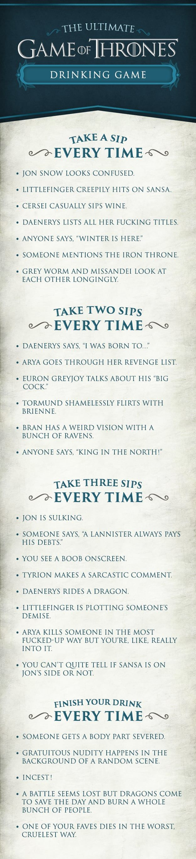 Here's How To Throw The Ultimate Game Of Thrones Party (if you want to get drunk fast )